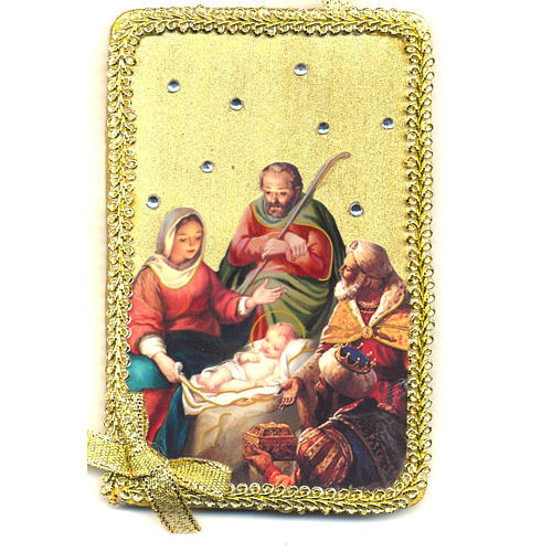 Image of the Nativity, Adoration of the Magi in wood 1