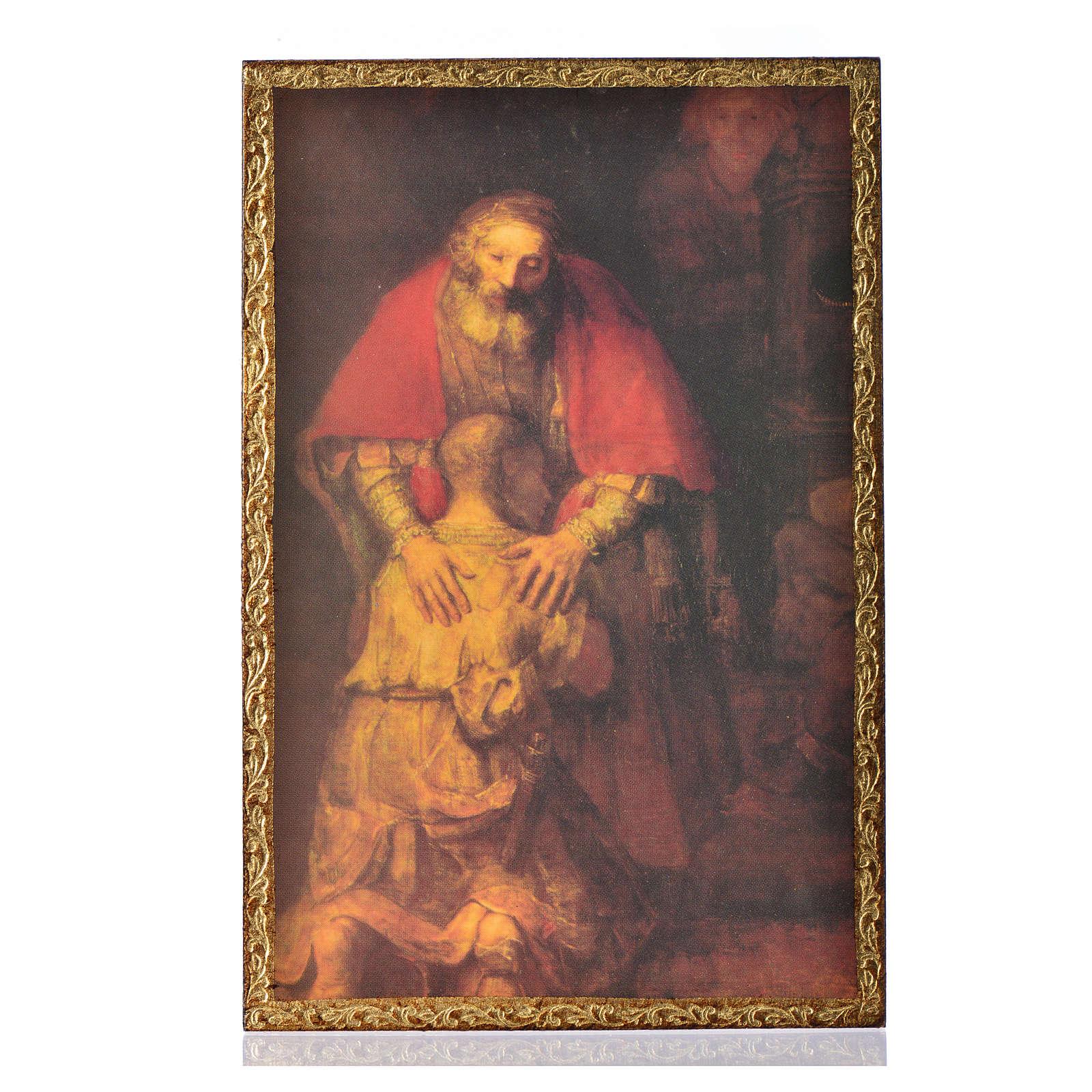 Stampa su legno Il Figliol Prodigo di Rembrandt 3
