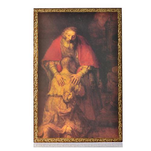 Stampa su legno Il Figliol Prodigo di Rembrandt 1