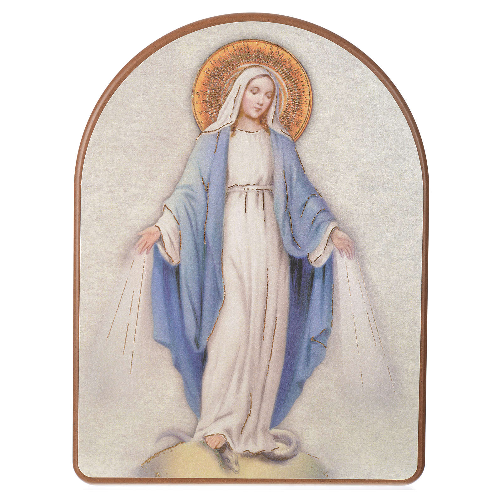 Print on wood, 15x20cm Miraculous Medal 3