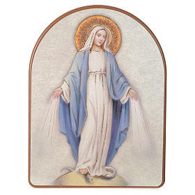 Print on wood, 15x20cm Miraculous Medal s1