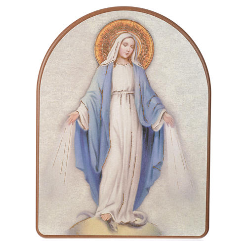 Print on wood, 15x20cm Miraculous Medal 1