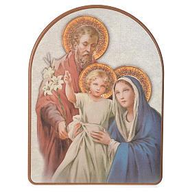 Impression sur bois 15x20 cm Sainte Famille s1
