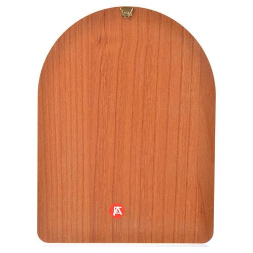 Impression sur bois 15x20 cm Sainte Famille 2