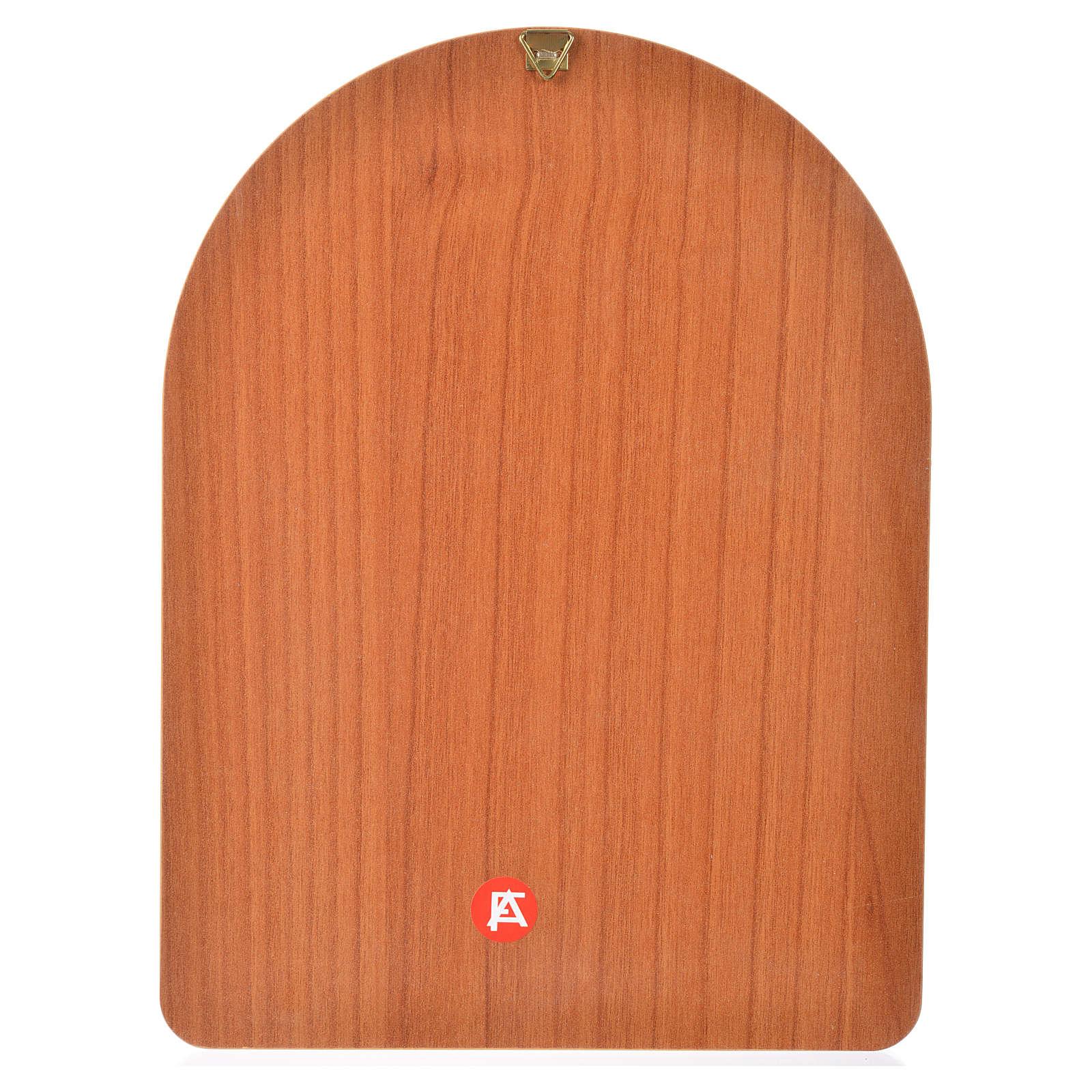 Stampa su legno 15x20cm Sacra Famiglia 3