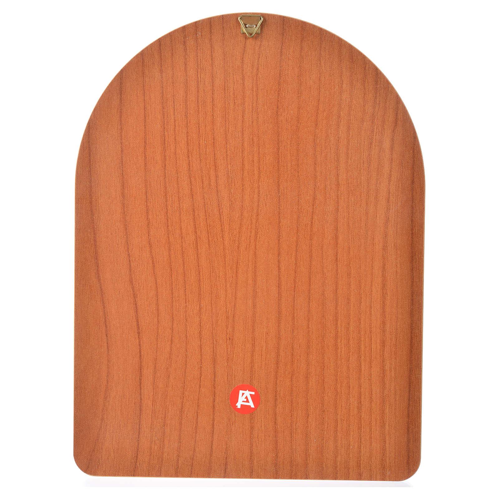 Estampa sobre madera 15x20 cm Jesús Misericordioso 3