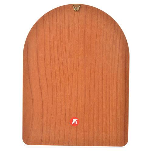 Estampa sobre madera 15x20 cm Jesús Misericordioso 2