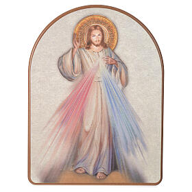 Impressão na madeira 15x20 cm Cristo Misericordioso s1