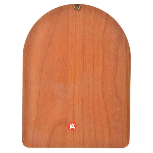 Impression sur bois 15x20 cm Saint Pio 2