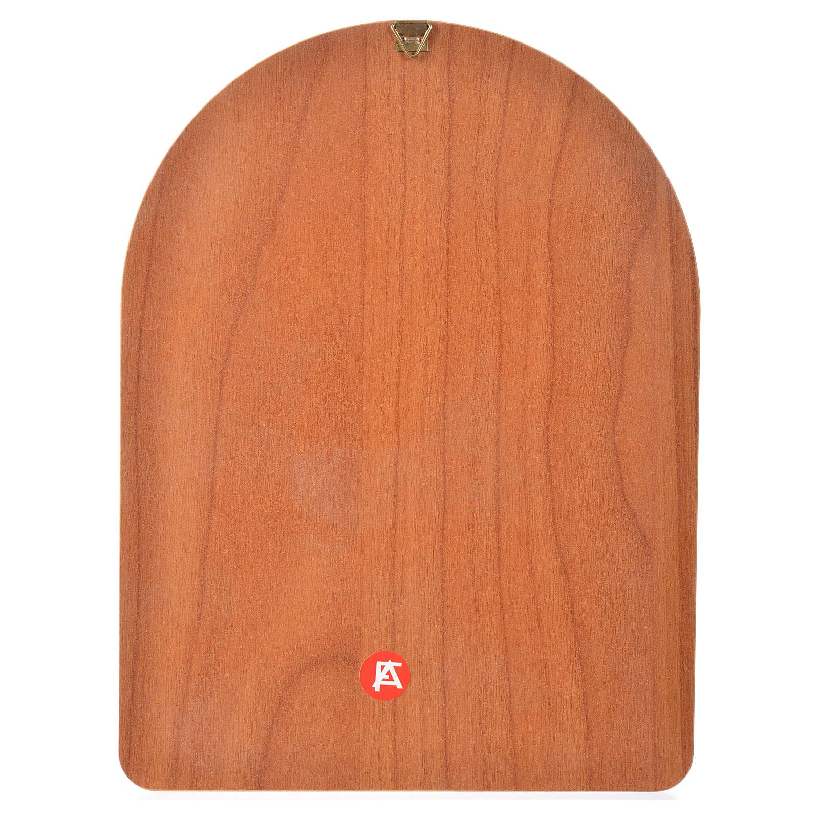 Druk na drewnie 15 X 20cm święty Pio 3