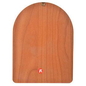 Druk na drewnie 15 X 20cm święty Pio s2