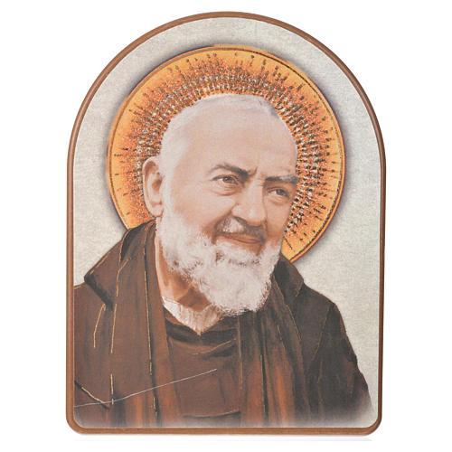Druk na drewnie 15 X 20cm święty Pio 1