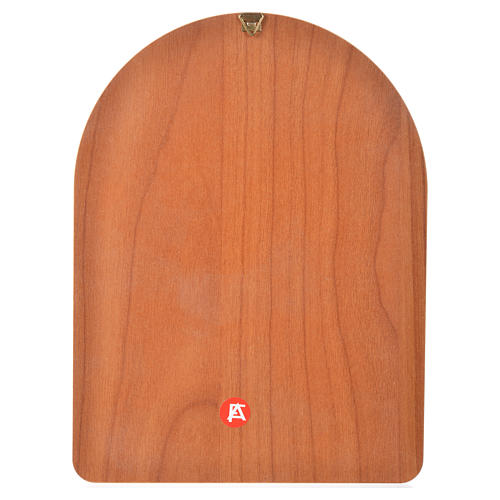 Druk na drewnie 15 X 20cm święty Pio 2