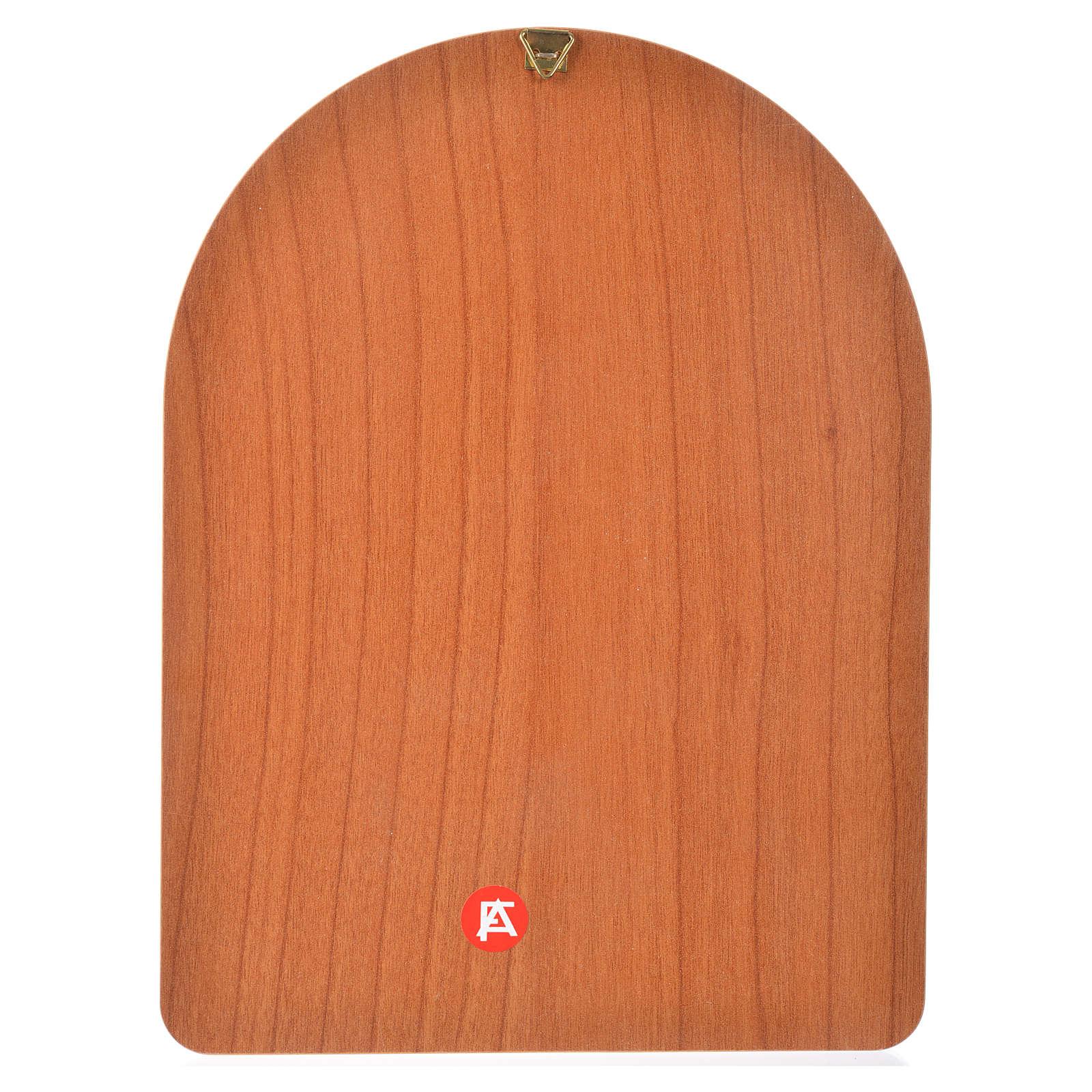 Impression sur bois 15x20 cm Sainte Thérèse 3