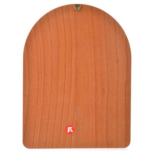 Impression sur bois 15x20 cm Sainte Thérèse 2