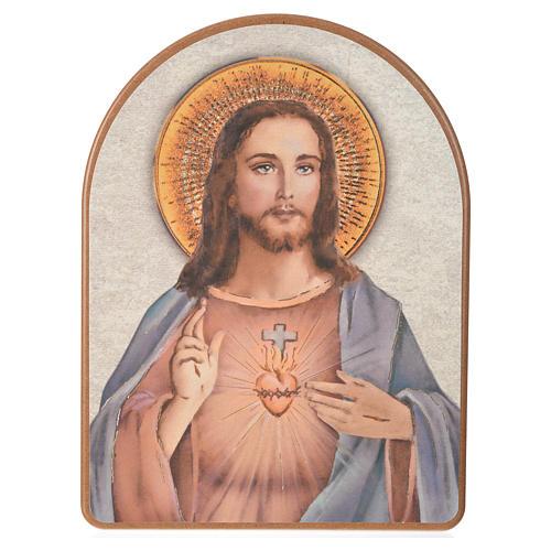 Print on wood, 15x20cm Sacred Heart of Jesus 1