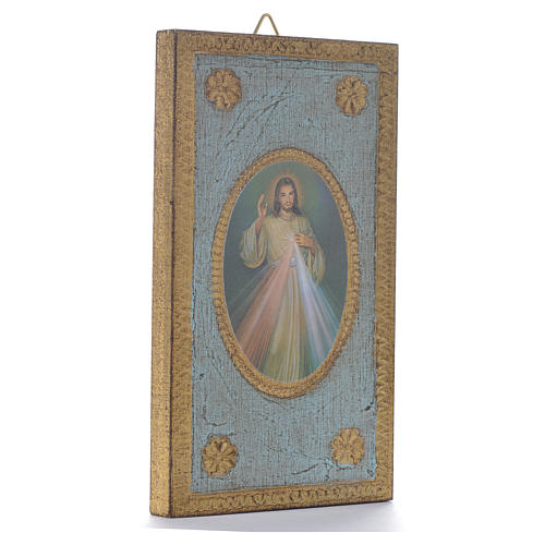 Estampa sobre madera 12,5 x 7,5 cm Divina Misericordia 2