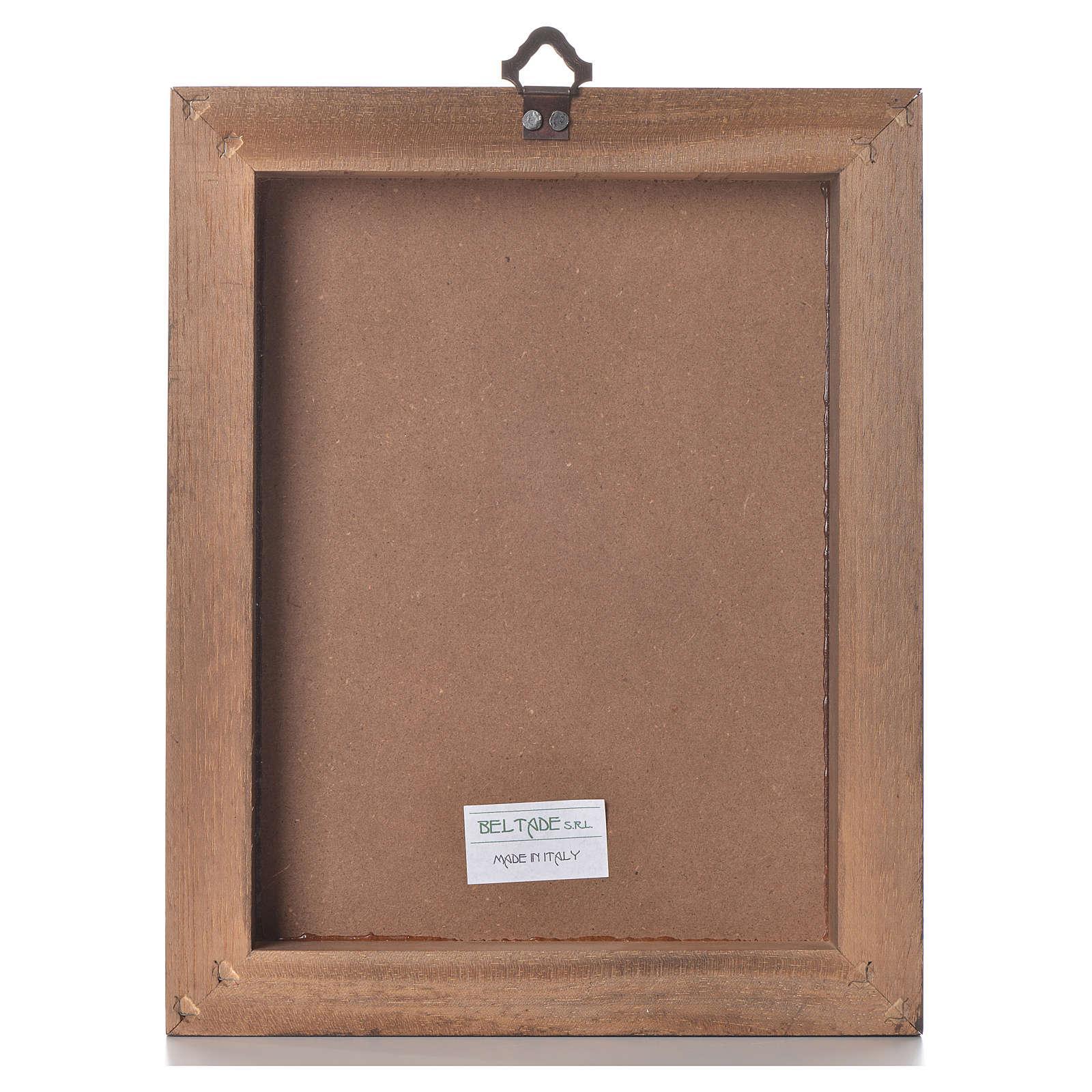 Impression Photo Planche Bois impression sur planche bois christ miséricordieux 25x20cm