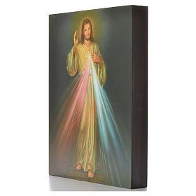 Impression sur planche bois Christ Miséricordieux 25x20cm s2