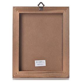 Impression sur planche bois Christ Miséricordieux 25x20cm s3