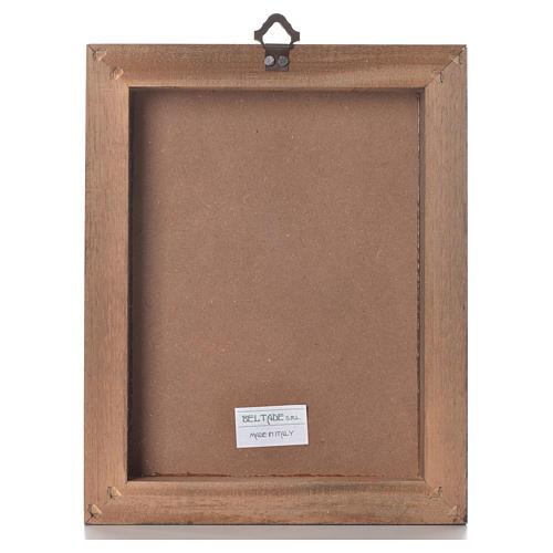 Impression sur planche bois Christ Miséricordieux 25x20cm 3