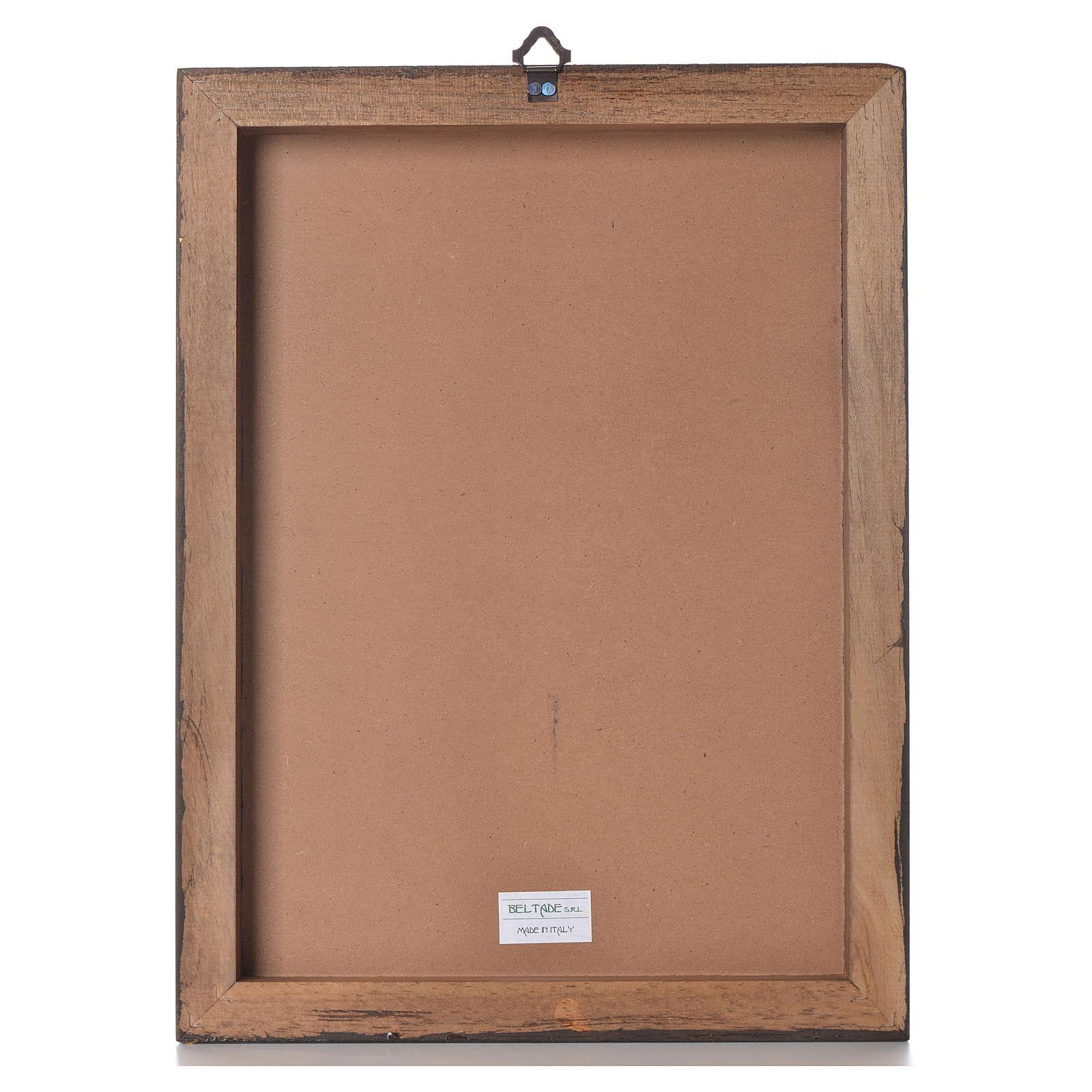 Impression sur planche bois Christ Miséricordieux 40x30cm 3