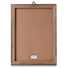 Impression sur planche bois Christ Miséricordieux 40x30cm s3