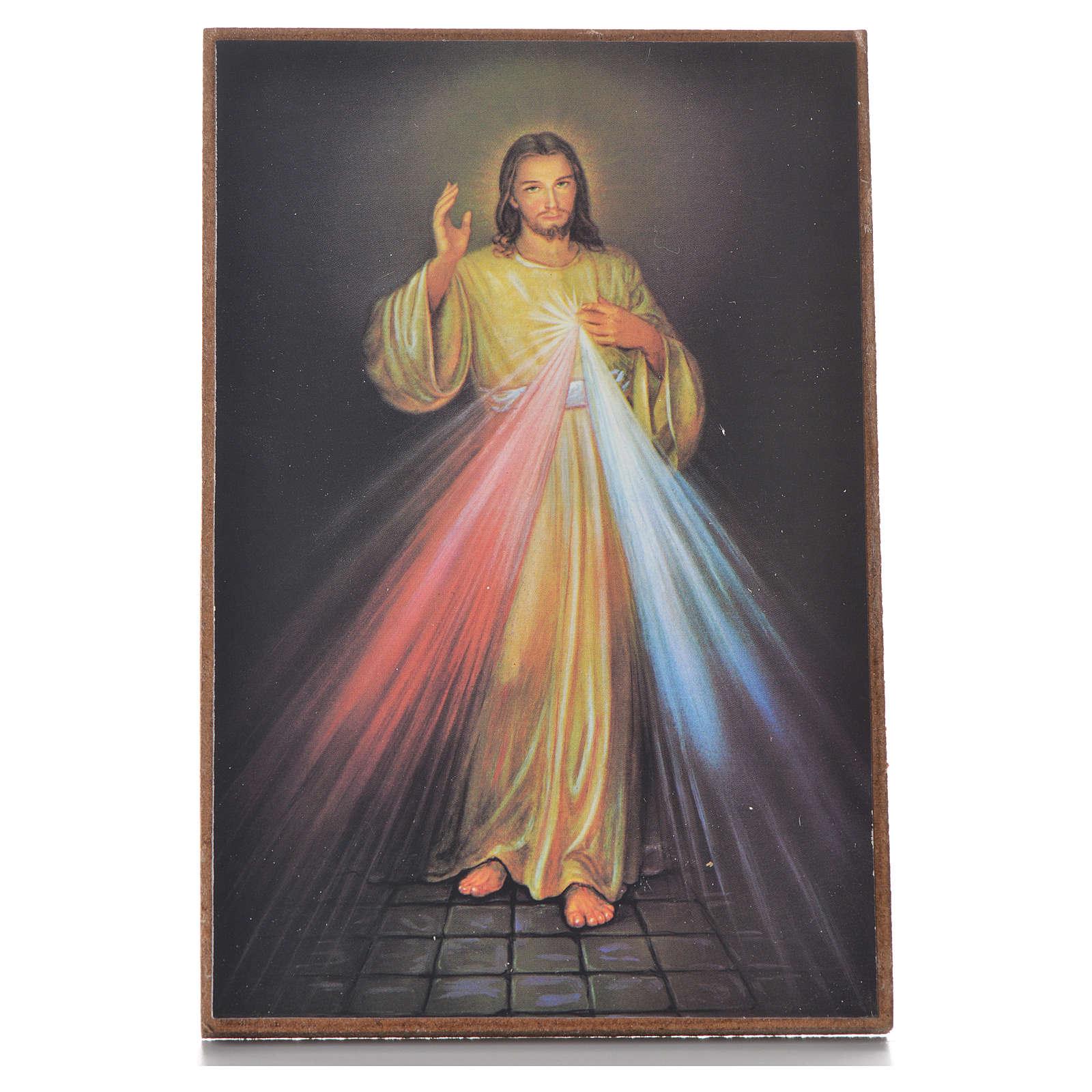 Cuadrito con pedestal Divina Misericordia 15 x 10 cm 3