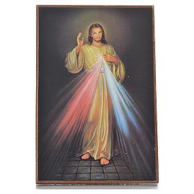 Cuadrito con pedestal Divina Misericordia 15 x 10 cm s1