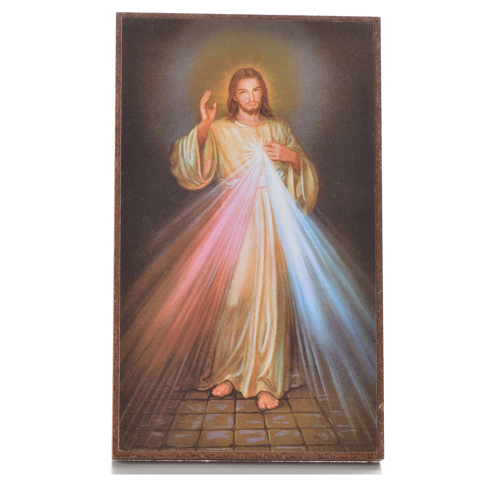 Cuadrito con pedestal Divina Misericordia 12,2 x 7,2 cm 3