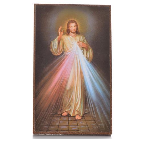 Cuadrito con pedestal Divina Misericordia 12,2 x 7,2 cm 1