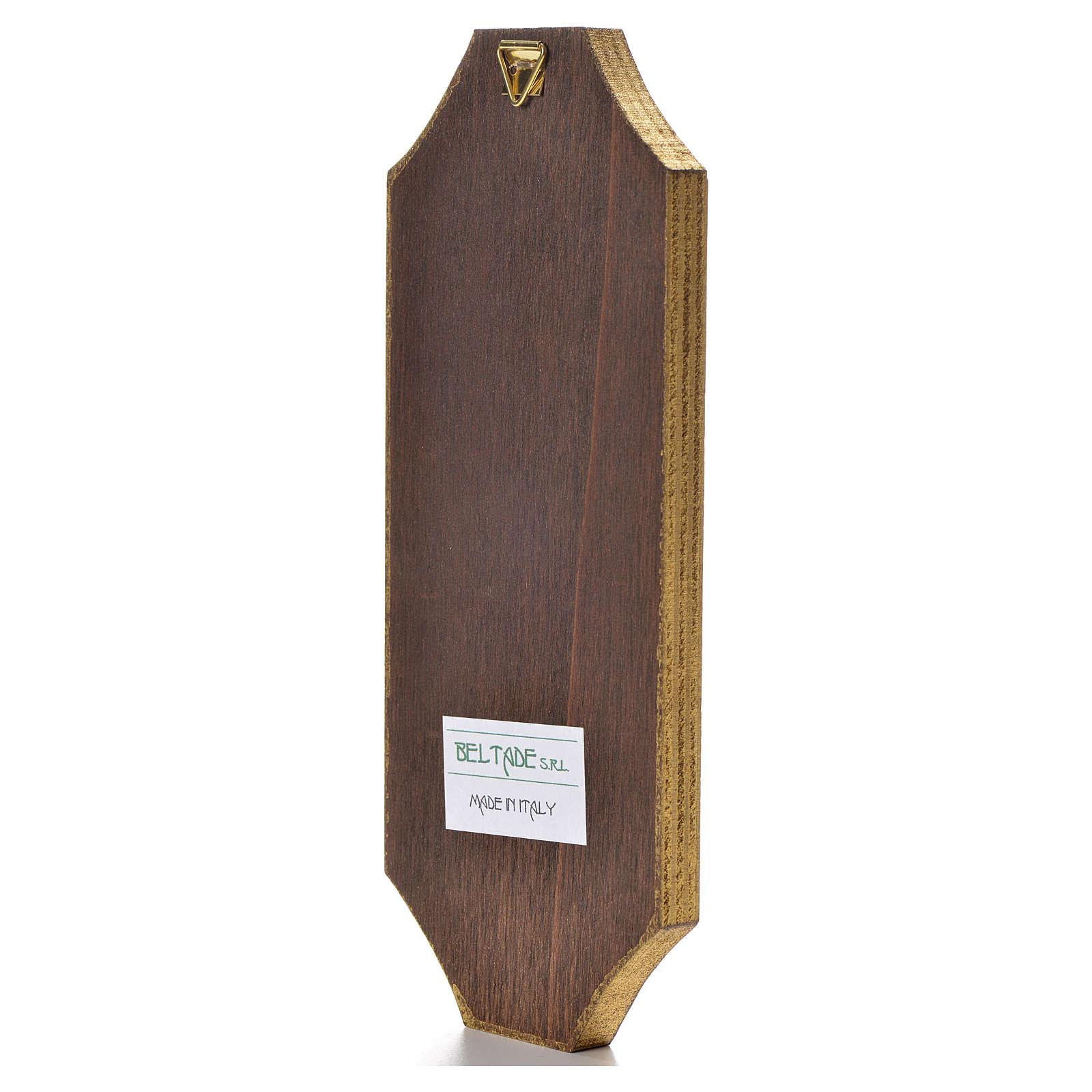 Tavola sagomata 18,5x7,5 cm Adorazione del bambino 3
