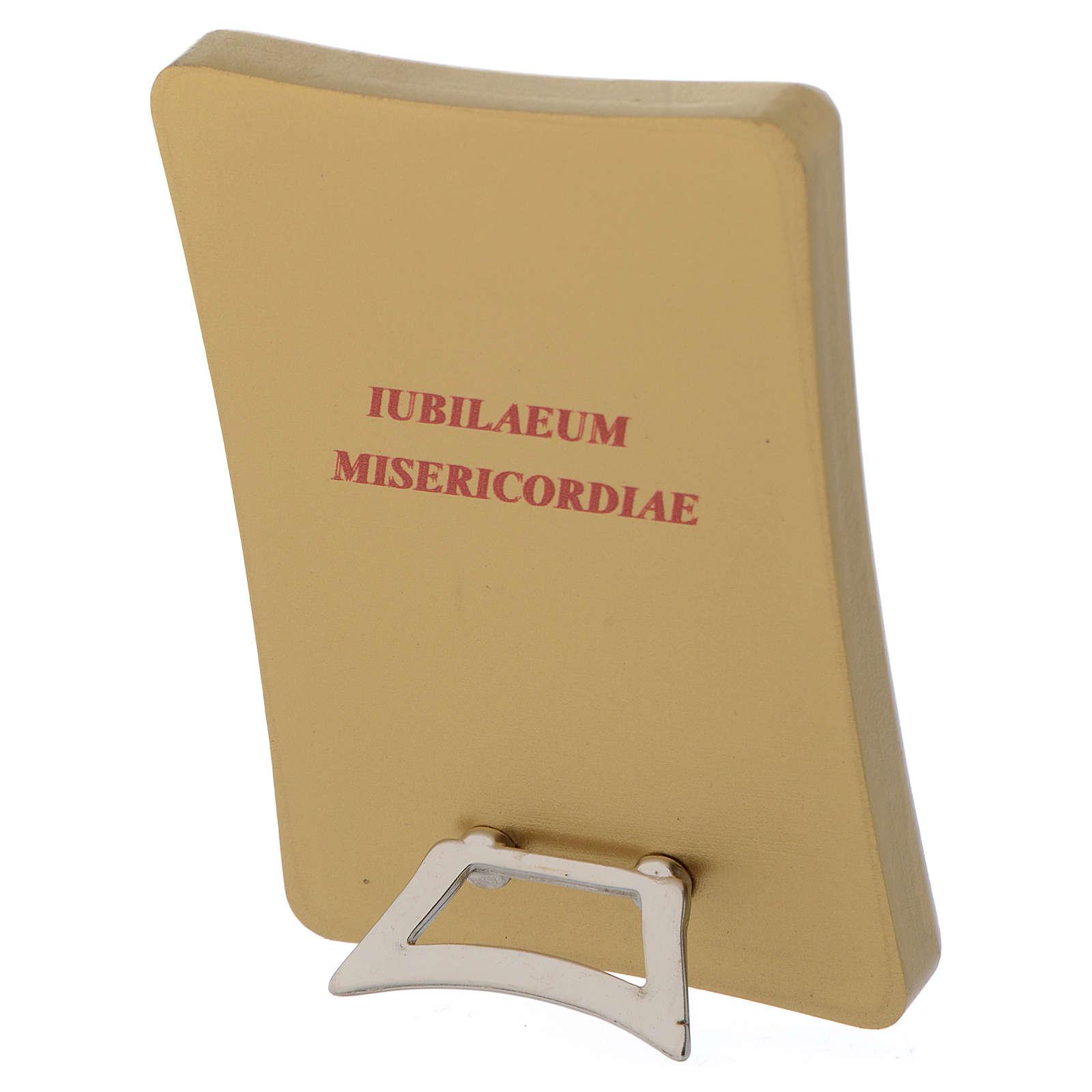STOCK Tableau Jubilé Miséricorde sur bois 7x10cm 3