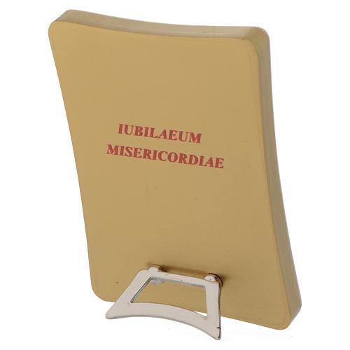 STOCK Tableau Jubilé Miséricorde sur bois 7x10cm 2