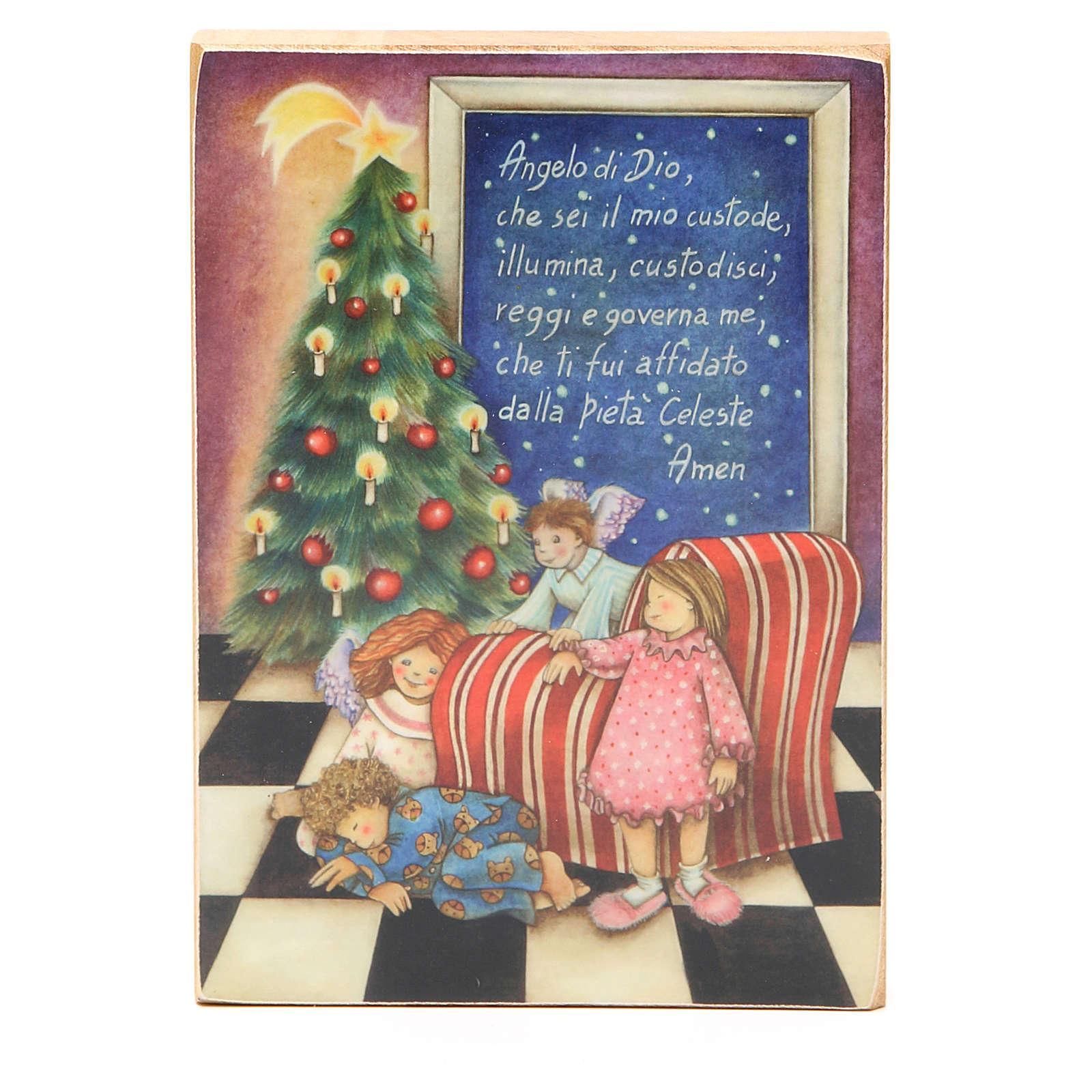 Quadretto Angelo di Dio Natale 3