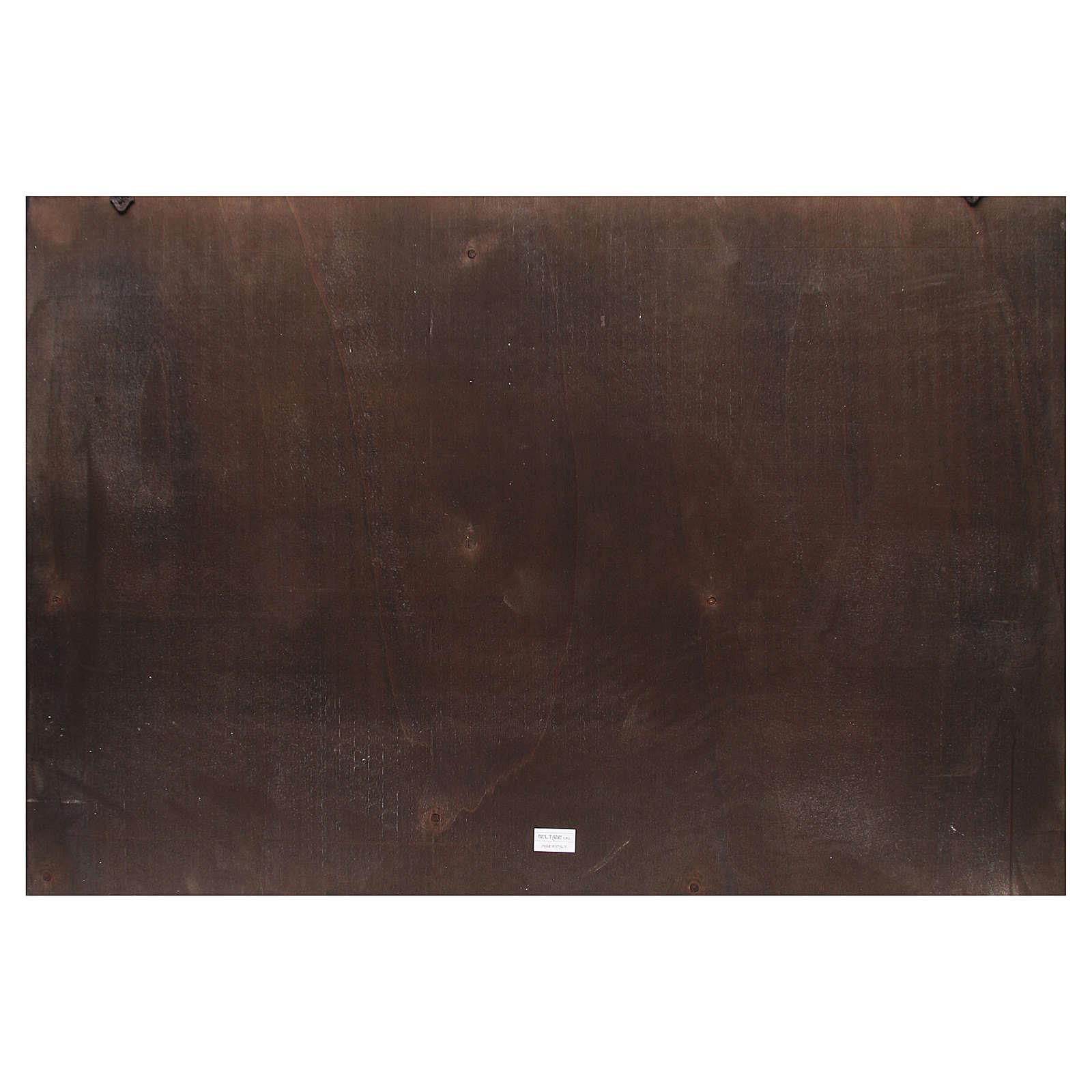 Toile de fond crèche bois ville arabe 100x68cm 4