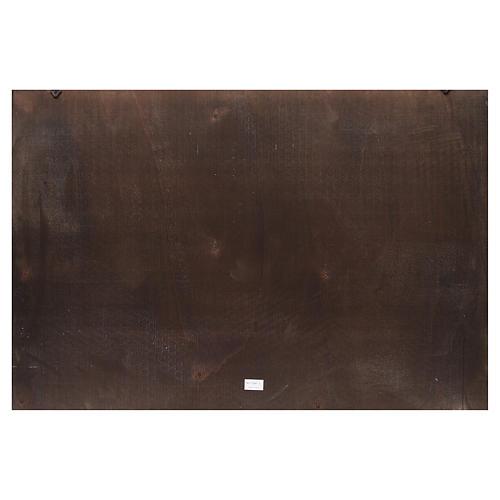 Toile de fond crèche bois ville arabe 100x68cm 2
