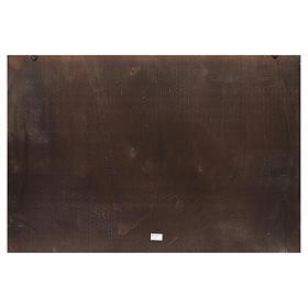 Fondale presepe legno Città araba 100x68cm s2