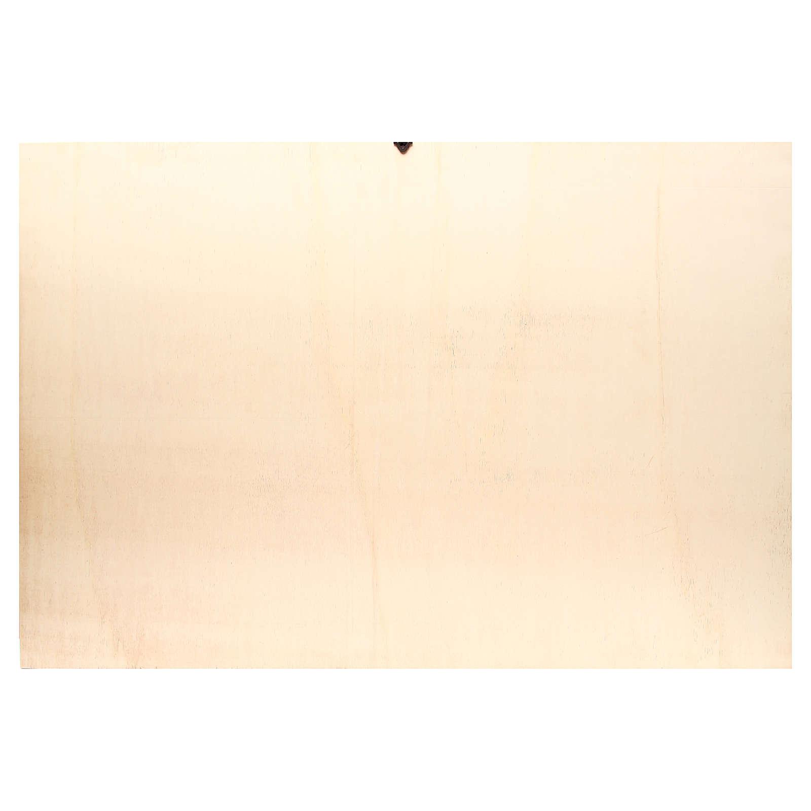 Toile de fond crèche bois paysage arabe 100x68cm 4