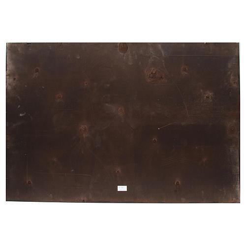 Toile de fond crèche bois comète 100x68cm 2
