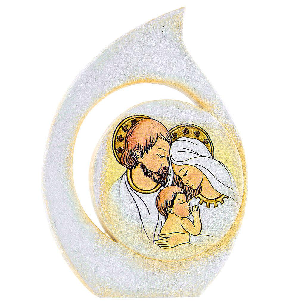 Bomboniera goccia Sacra Famiglia 11 cm 3