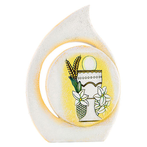 Painting Chalice First Communion drop shaped 11cm 1