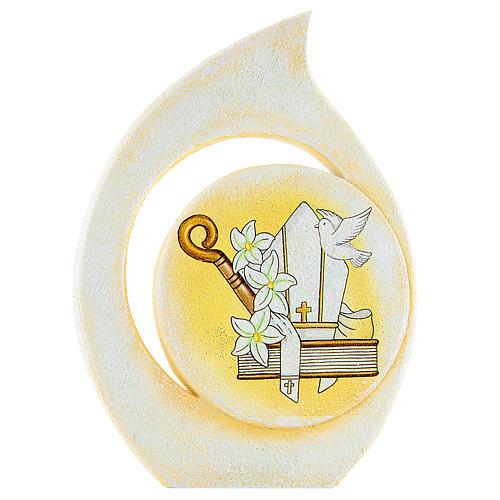 Bomboniera Cresima Quadretto goccia 8 cm 1