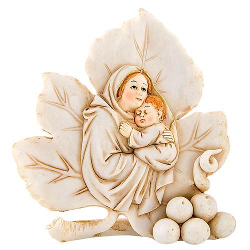 Lembrancinha nascimento folha maternidade 8 cm 1