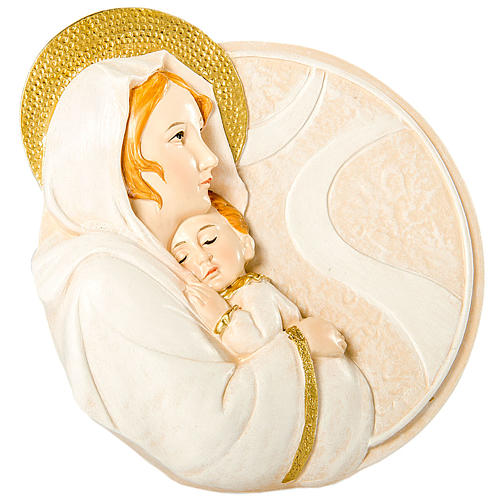 Bomboniera Nascita Tondo Maternità 10 cm 1