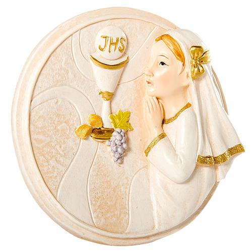 cuadro redondo niña primera comunión 10 cm venta online en holyart