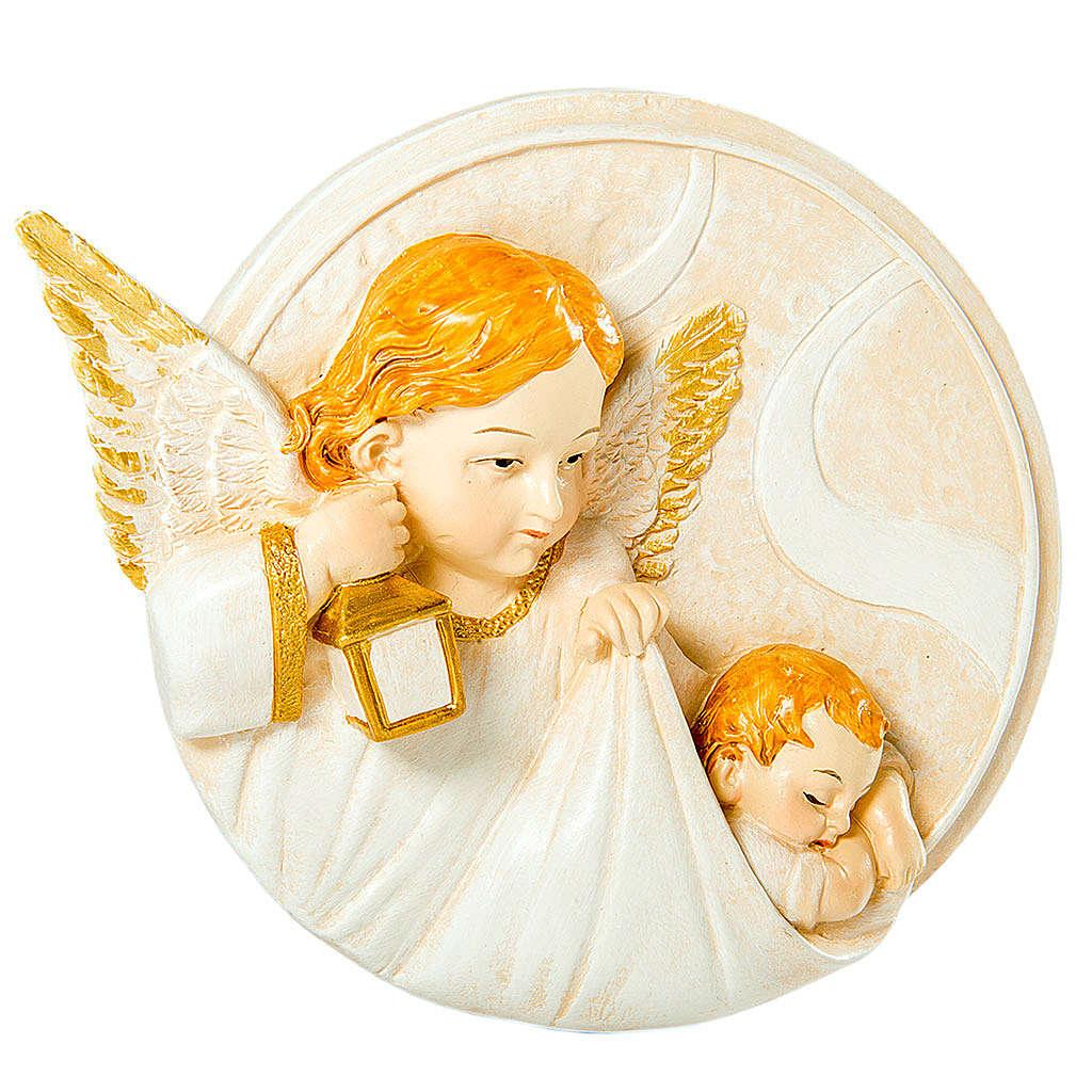 Round painting Angel 7cm 3