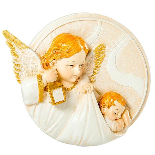Round painting Angel 7cm 1