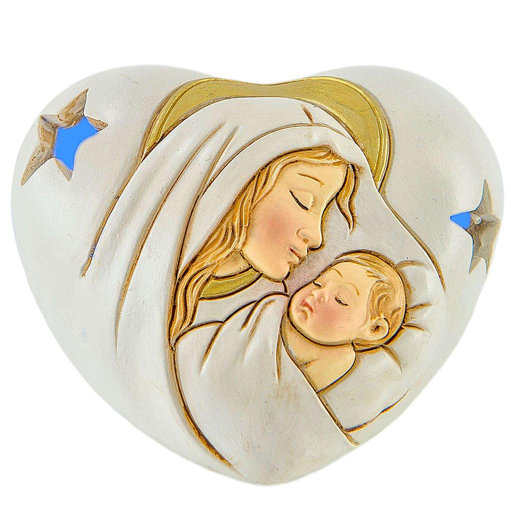 Ricordino Cuore con LED Maternità 7 cm 3