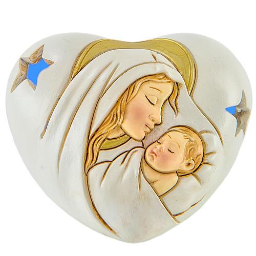 Ricordino Cuore con LED Maternità 7 cm 1